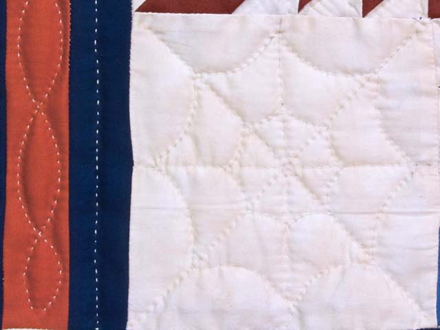 Multicolor Feathered Edge Star Crib Quilt Photo 4