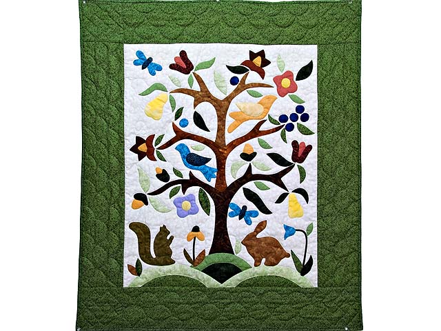 Applique Tree of Life Wall Hanging Photo 1