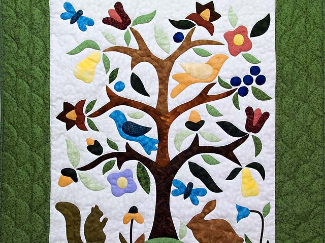 Applique Tree of Life Wall Hanging Photo 2