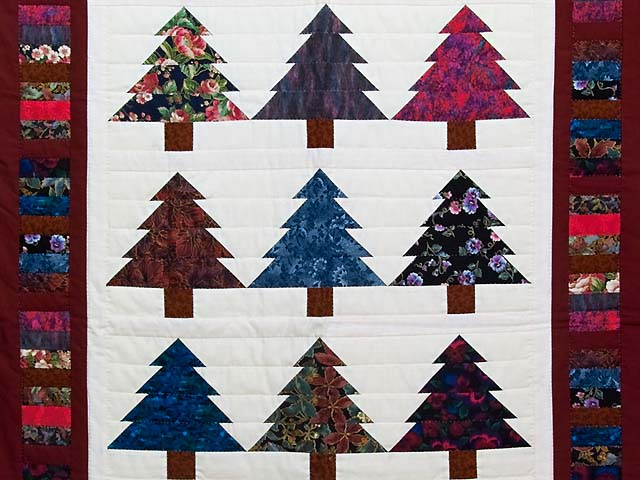 Christmas Trees Wall Hanging Photo 2