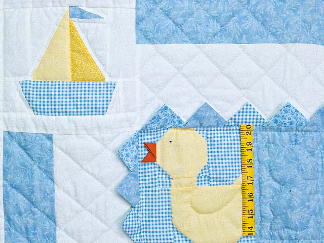 Pastel Blue and Yellow Ducks and Boats Crib Quilts Photo 3