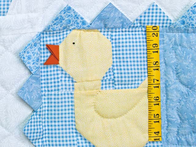 Pastel Blue and Yellow Ducks and Boats Crib Quilts Photo 4