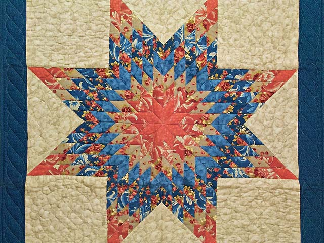 Blue Coral and Tan Lone Star Wall Hanging Photo 2