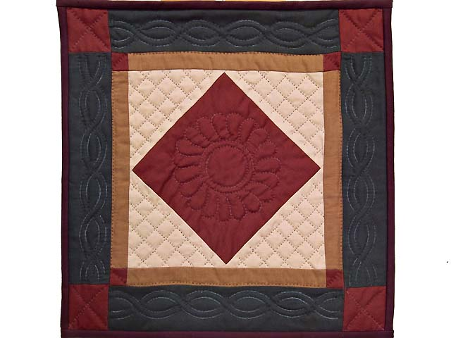 Miniature Amish Center Diamond Quilt Photo 1