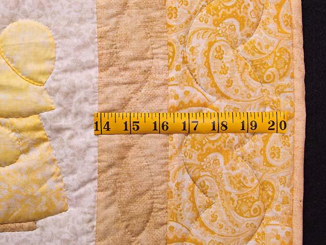 Golden Yellow Sunbonnet Sue Crib Quilt Photo 6