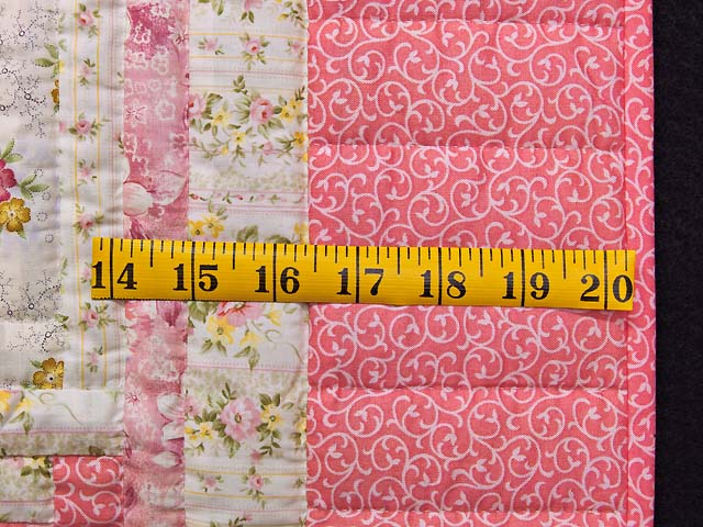 Princess Pink and Cream Log Cabin Crib Quilt Photo 5