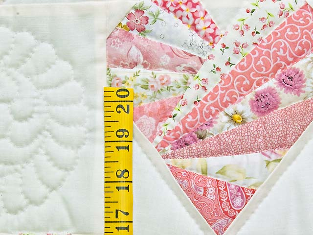 Pink and Cream Patchwork Hearts Crib Quilt Photo 4