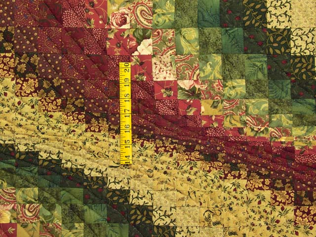 Burgundy Gold and Moss Bargello Wave Wall Hanging Photo 3