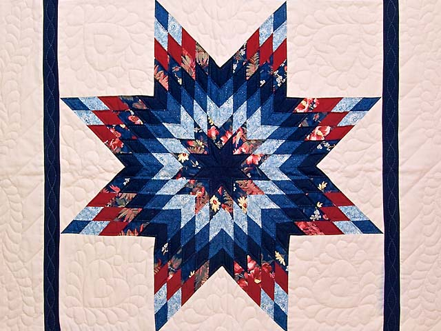 Blue Navy and Red Constellation Lone Star Throw Photo 2