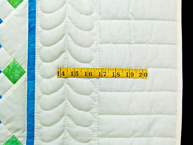 Blue and Green Nine Patch Crib Quilt Photo 5
