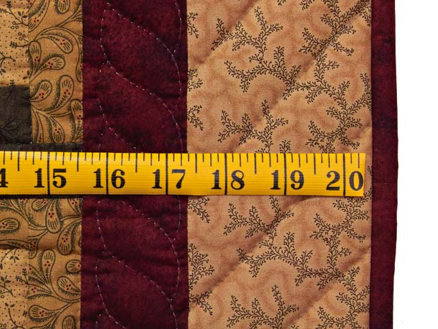 Wheat Burgundy and Green Star Burst Log Cabin Wall Hanging Photo 5