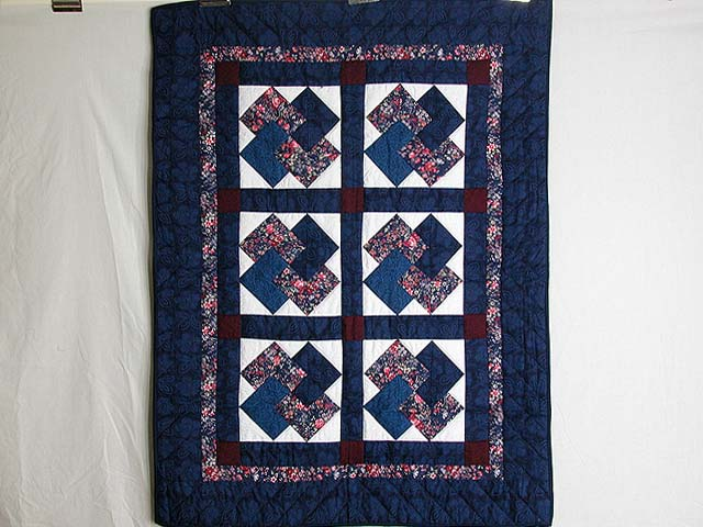Navy and Burgundy Card Tricks Wall Hanging Photo 1