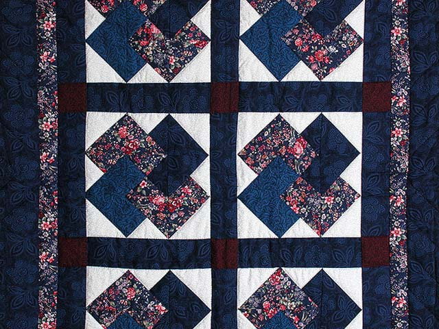 Navy and Burgundy Card Tricks Wall Hanging Photo 2