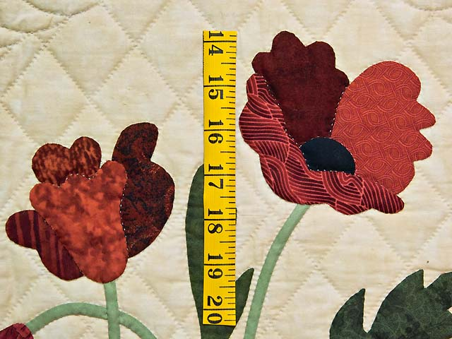 Dark Moss and Brick Poppy Fields Wall Hanging Photo 3