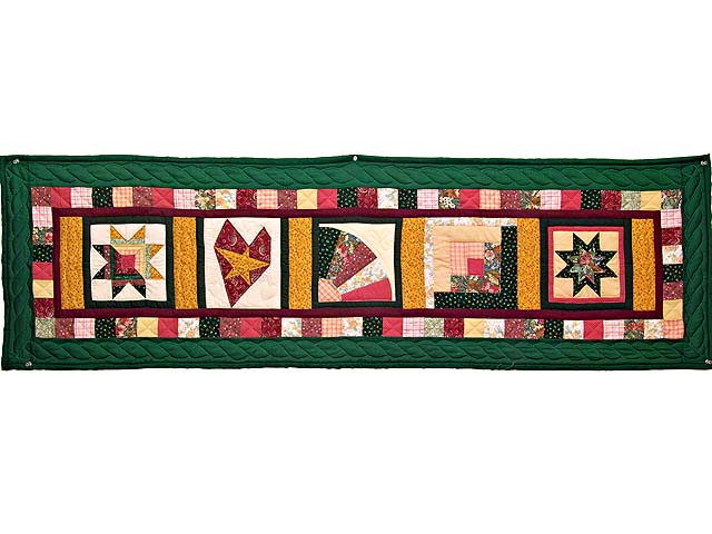Green Rose and Multi Patchwork Sampler Runner Photo 1
