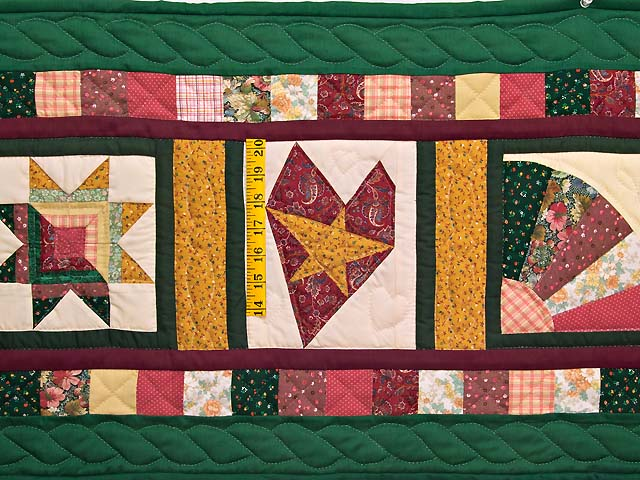 Green Rose and Multi Patchwork Sampler Runner Photo 2