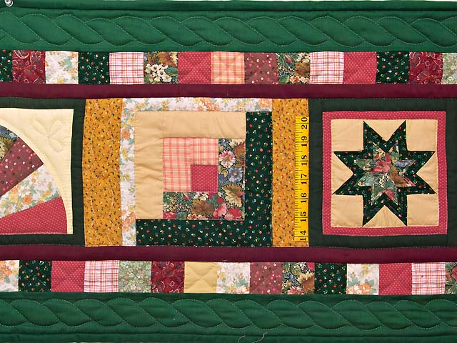 Green Rose and Multi Patchwork Sampler Runner Photo 4