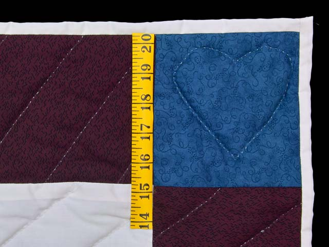 Maroon and Blue  Rocking Horse Crib Quilt Photo 5