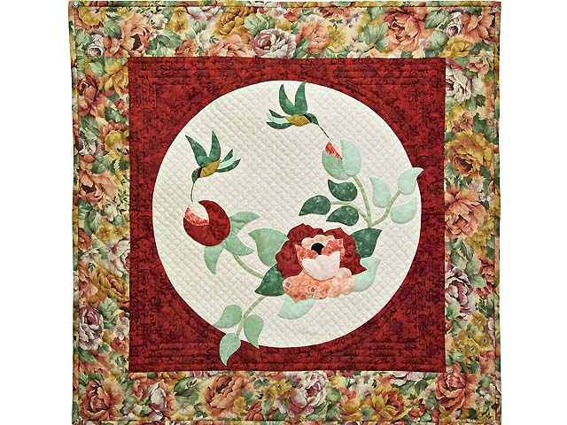Red Rose Garden Wall Hanging Photo 1