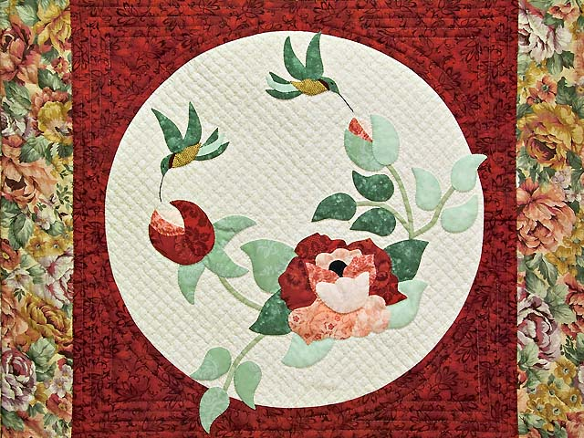 Red Rose Garden Wall Hanging Photo 2