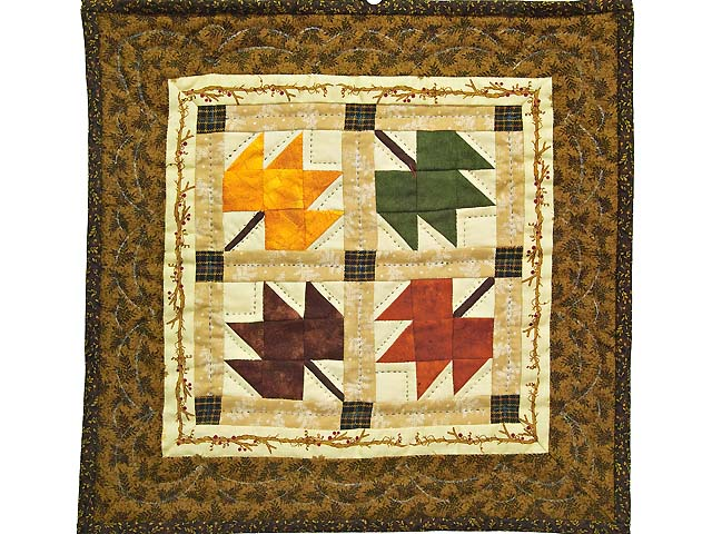 Autumn Leaves Miniature Quilt Photo 1