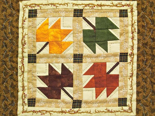 Autumn Leaves Miniature Quilt Photo 2