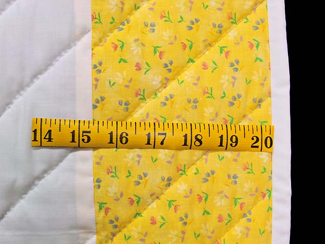 Yellow and Green Rocking Horse Crib Quilt Photo 5