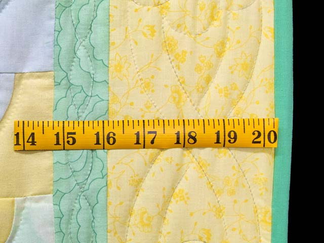 Yellow Green Pastel Ocean Wave Crib Quilt Photo 6