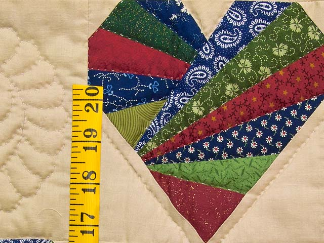 Country Colors Patchwork Hearts Wall Hanging Photo 4