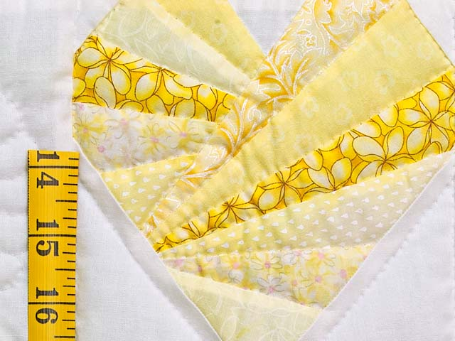 Yellow and Cream Patchwork Hearts Crib Quilt Photo 4