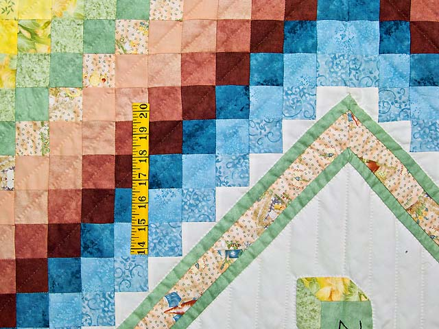 Green and Pastel ABC Crib Quilt Photo 3