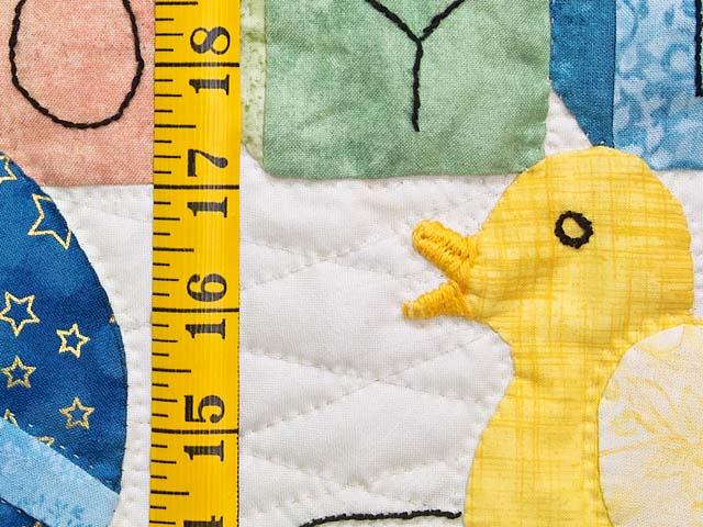 Green and Pastel ABC Crib Quilt Photo 5