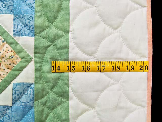 Green and Pastel ABC Crib Quilt Photo 6