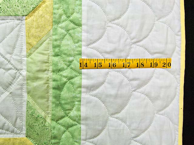 Pastel Green and Yellow Sunbonnet Sue Crib Quilt Photo 5