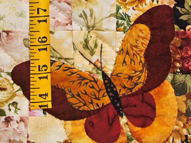 Burgundy and Gold Butterfly Journey Wall Hanging Photo 4