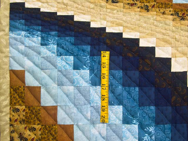 Blue and Tan Bargello Wave Photo 3