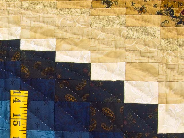 Blue and Tan Bargello Wave Photo 4