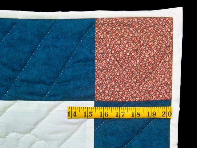 Navy and  Red Rocking Horse Crib Quilt Photo 5