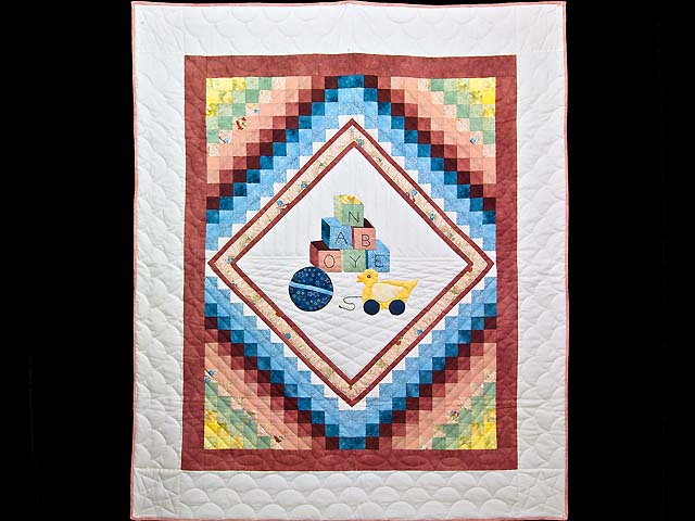 Rose  ABC Crib Quilt Photo 1