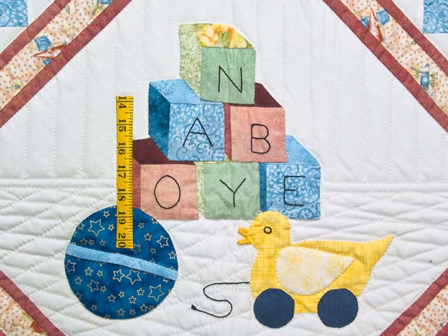 Rose  ABC Crib Quilt Photo 3