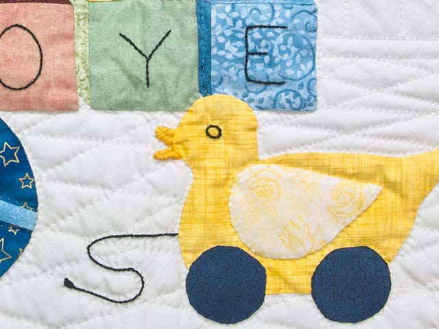 Rose  ABC Crib Quilt Photo 4