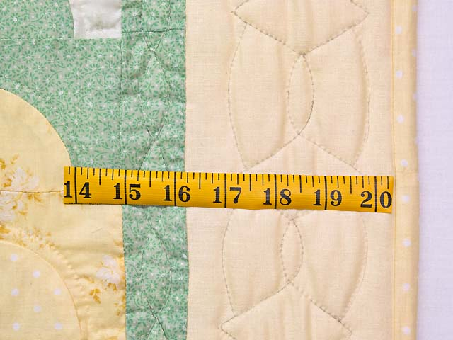 Yellow Green Pastel Ocean Wave Crib Quilt Photo 5