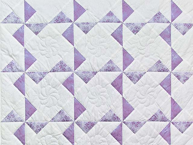 Lavender and Cream Pinwheel Crib Quilt Photo 2