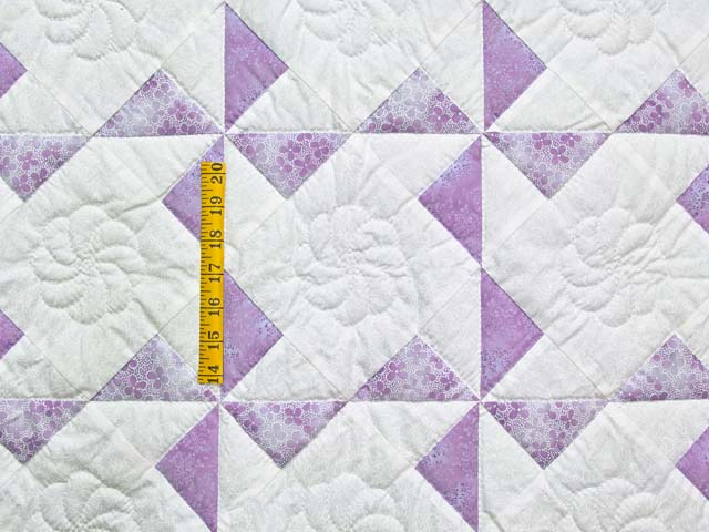 Lavender and Cream Pinwheel Crib Quilt Photo 3