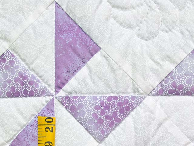 Lavender and Cream Pinwheel Crib Quilt Photo 4