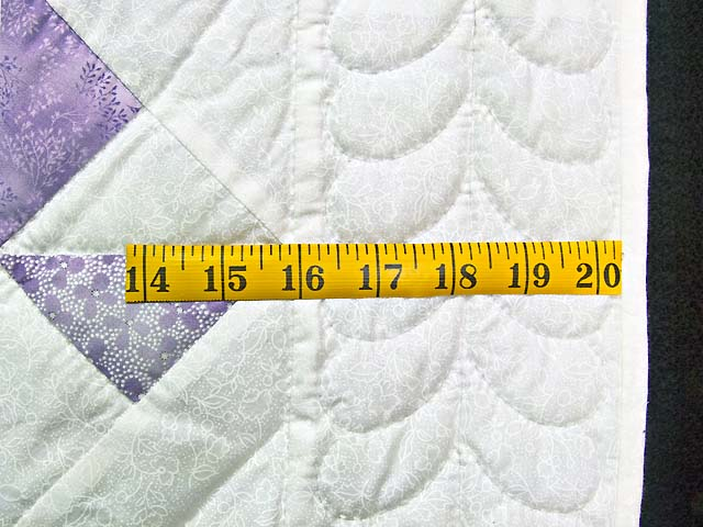Lavender and Cream Pinwheel Crib Quilt Photo 5