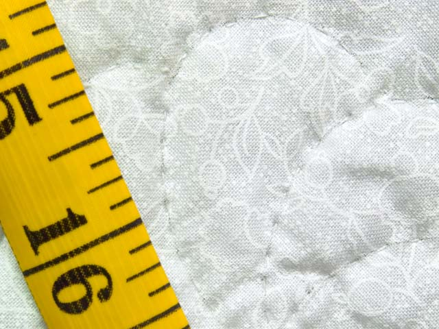 Lavender and Cream Pinwheel Crib Quilt Photo 6