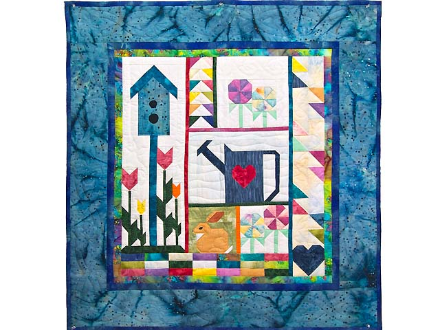 Spring Patchwork Sampler Wall Hanging Photo 1