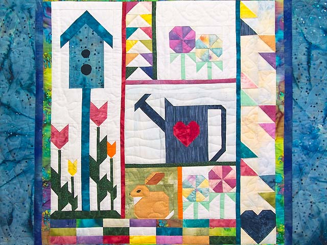 Spring Patchwork Sampler Wall Hanging Photo 2