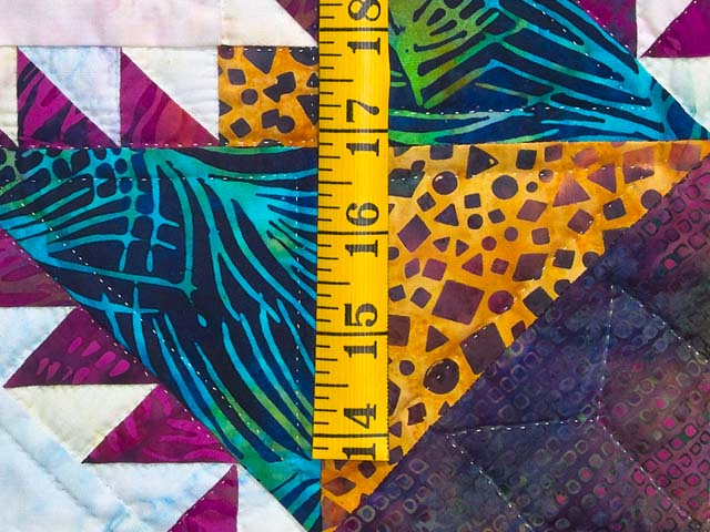 Batik Feathered Edge Star Wall Hanging Photo 4